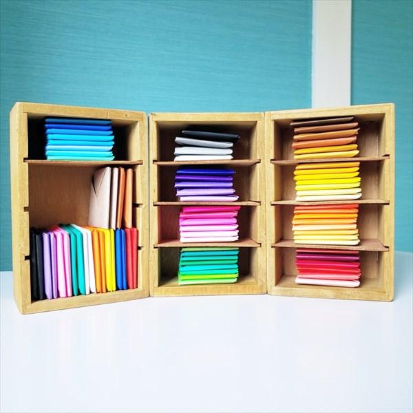 モンテッソーリの色板、折り紙バージョン